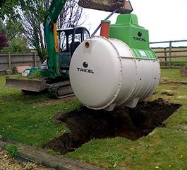 Installation of Tricel Novo wastewater treatment plant