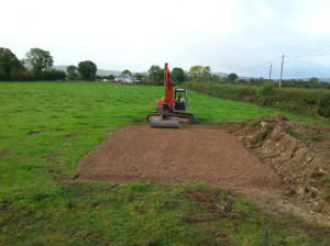 Base getting ready for the gravel